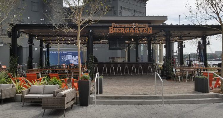 Sparkman Wharf Fermented Reality Biergarten Area